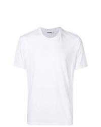 Camiseta con cuello circular blanca de Jil Sander