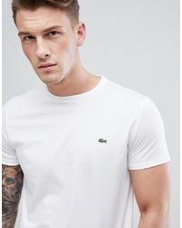 Camiseta con cuello circular blanca de Lacoste