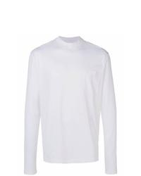 Camiseta con cuello circular blanca de Lanvin
