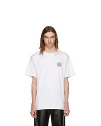 Camiseta con cuello circular blanca de Loewe
