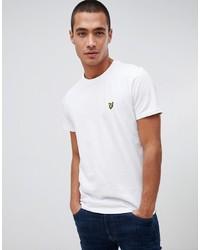 Camiseta con cuello circular blanca de Lyle & Scott