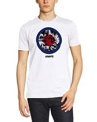 Camiseta con cuello circular blanca de Merc of London