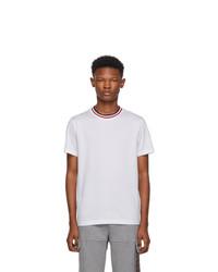 Camiseta con cuello circular blanca de Moncler