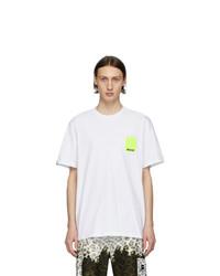 Camiseta con cuello circular blanca de MSGM