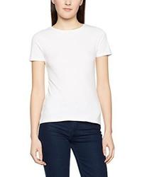 Camiseta con cuello circular blanca de New Look