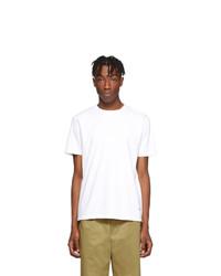 Camiseta con cuello circular blanca de Noah NYC