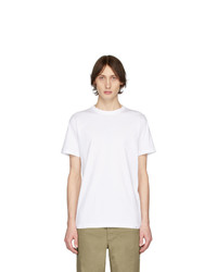 Camiseta con cuello circular blanca de Norse Projects