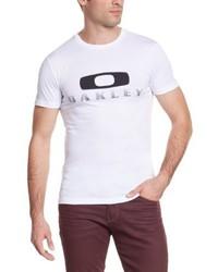 Camiseta con cuello circular blanca de Oakley