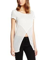 Camiseta con cuello circular blanca de Only