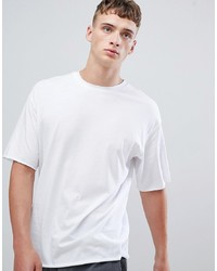 Camiseta con cuello circular blanca de ONLY & SONS