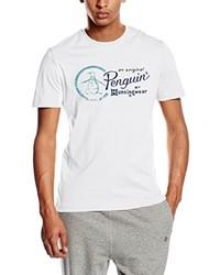 Camiseta con cuello circular blanca de Original Penguin