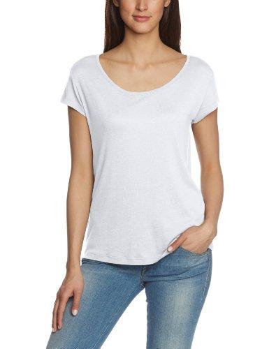 Camiseta con cuello circular blanca de Pieces