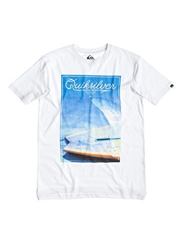 Camiseta con cuello circular blanca de Quiksilver