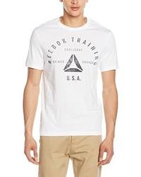 Camiseta con cuello circular blanca de Reebok