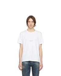 Camiseta con cuello circular blanca de Saint Laurent
