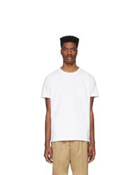 Camiseta con cuello circular blanca de Schnaydermans