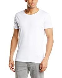 Camiseta con cuello circular blanca de Selected Homme