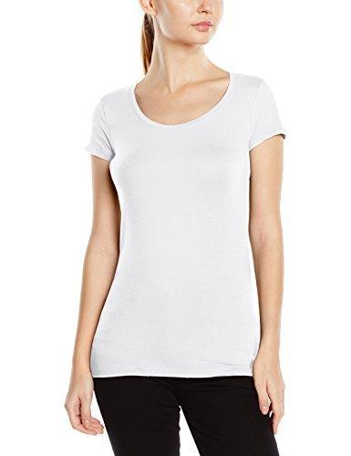 Camiseta con cuello circular blanca de Stedman Apparel