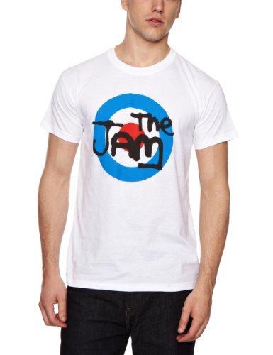 Camiseta con cuello circular blanca de The Jam