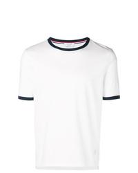 Camiseta con cuello circular blanca de Thom Browne