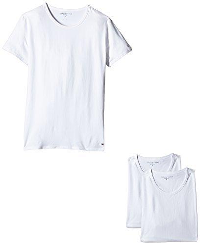 Camiseta con cuello circular blanca de Tommy Hilfiger