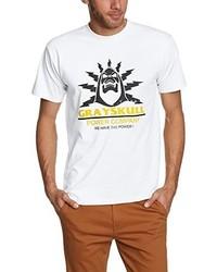 Camiseta con cuello circular blanca de Touchlines