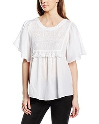 Camiseta con Cuello Circular Blanca de Vero Moda