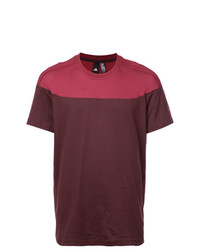 Camiseta con cuello circular burdeos de adidas