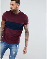 Camiseta con cuello circular burdeos de ASOS DESIGN