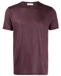 Camiseta con cuello circular burdeos de Etro