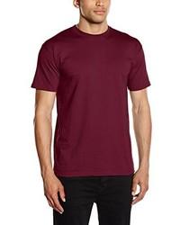 Camiseta con cuello circular burdeos de Fruit of the Loom