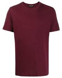 Camiseta con cuello circular burdeos de Neil Barrett