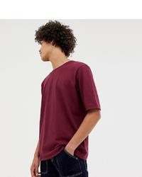 Camiseta con cuello circular burdeos de Noak