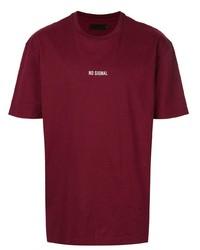 Camiseta con cuello circular burdeos de Off Duty