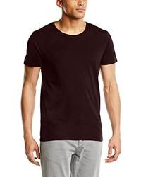Camiseta con cuello circular burdeos de Selected Homme