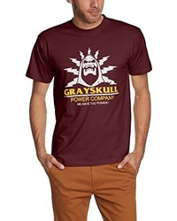 Camiseta con cuello circular burdeos de Touchlines