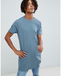 Camiseta con cuello circular celeste de ASOS DESIGN