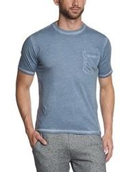 Camiseta con cuello circular celeste de Dockers