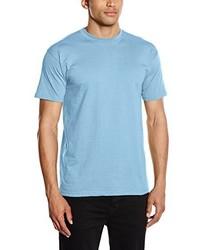 Camiseta con cuello circular celeste de Fruit of the Loom
