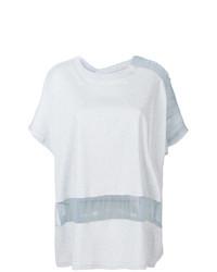 Camiseta con cuello circular celeste de Maison Margiela