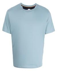 Camiseta con cuello circular celeste de Paul Smith