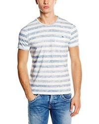 Camiseta con cuello circular celeste de Pepe Jeans