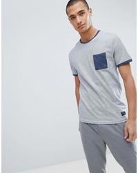 Camiseta con cuello circular celeste de Pier One