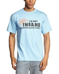 Camiseta con cuello circular celeste de Touchlines