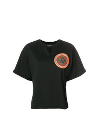 Camiseta con cuello circular con adornos negra de Mr & Mrs Italy