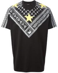 Camiseta con cuello circular con estampado geométrico en negro y blanco de Givenchy