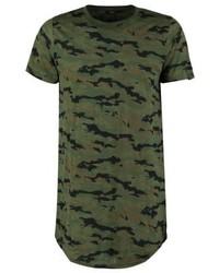 Camiseta con cuello circular de camuflaje verde oliva de Boom Bap