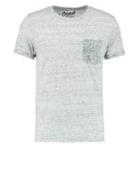 Camiseta con cuello circular de paisley gris de Jack & Jones