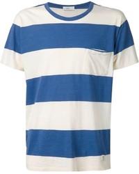 Camiseta con cuello circular de rayas horizontales en blanco y azul de Closed
