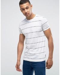 Camiseta con cuello circular de rayas horizontales en blanco y negro de French Connection